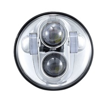 """Headlight 45w 5 3/4"""" Daymarker Style Chrome Face New Style Suit Most H-D, Street 500 & Indian Scout + Some Triumph Models"""