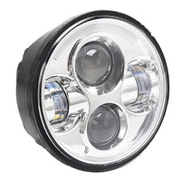 Headlight 45w LED Daymarker Style FireDug Chrome Face Suit Most H-D, Street 500 & Indian Scout Models + Some Triumph Models+ Ext Warranty