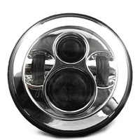 "Headlight Daymarker Chrome Face 7"" Suit FL Models Fits Harley Davidson"