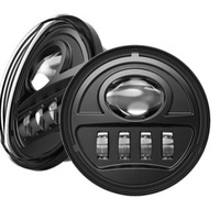 Passing Lights Auxiliary 30w 4.5 inch Led Black Suit all Harley Touring & Flst Models Fits Harley & Universal Use