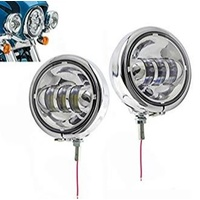 """Passing Lights 30w 4.5"""" Spot pair & Housing Chrome Suit all Harley Touring & Flst Models with Light Bar Fits Harley"""