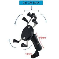 Twin Power 6 Feet X-Shape Universal Phone Mount Motorcycle Mirror Mount only GPS Stand Holder Cell Phone Cradle