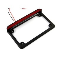 "Taillight & License Plate Frame Black 4"" - 7"" Suit most Motorcycle Plates"