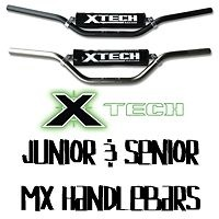XTECH SENIOR MX HANDLEBAR LOW STYLE BLACK T6-6061 ALUMINIUM - AUSSIE SELLER