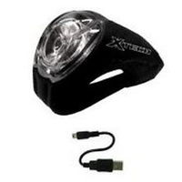XTECH HEAD LIGHT CYCLOPS USB BLACK BICYCLE - AUSSIE SELLER