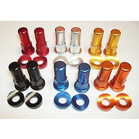 XTECH RIM LOCK SPACERS DARK RED DIRT BIKE