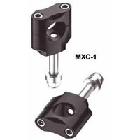 XTECH MXC-1 BAR MOUNTS 28.6MM (1-1/8) W/SPACER SILVER - HEIGHT 40-47MM