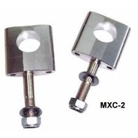 "XTECH MXC-2 BAR MOUNTS 28.6MM (1-1/8"") 10MM BOLT SILVER - HEIGHT 33.5MM"