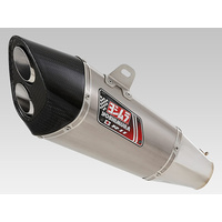 Yoshimura R-11 Dual Exit/Euro3 Stainless Slip-On Muffler w/Stainless Sleeve for Suzuki GSX-R600 11Up/GSX-R750 11Up