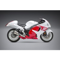 Yoshimura Race Series Alpha T Stainless Full Exhaust System w/Stainless Sleeve/Carbon End Cap for Suzuki Hayabusa 08-20
