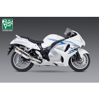 Yoshimura Signature Series R-77 Stainless Slip-On Muffler w/Stainless Sleeve/Carbon End Cap for Suzuki Hayabusa 08-20