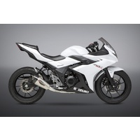 Yoshimura Race Series Alpha T Stainless Full Exhaust System w/Stainless Sleeve/Carbon End Cap for Suzuki GSX250R 18-20
