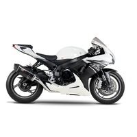 Yoshimura Race Series R-77 Stainless Full Exhaust System w/Carbon Sleeve/Carbon End Cap for Suzuki GSX-R600/750 11-20