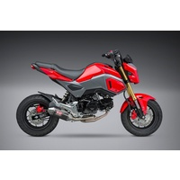 Yoshimura Race Series Mini RS-2 Stainless Full Exhaust System w/Carbon Sleeve/Stainless End Cap for Honda Grom 17-20