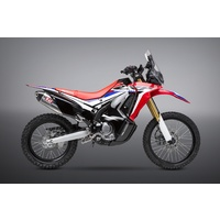 Yoshimura Race Series RS-4 Stainless Full Exhaust System w/Stainless Sleeve/Carbon End Cap for Honda CRF250L/Rally 17-20