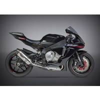 Yoshimura Race Series Alpha Stainless 3/4 Slip-On Muffler w/Stainless Sleeve/Carbon End Cap for Yamaha YZF-R1/M/S 15-20