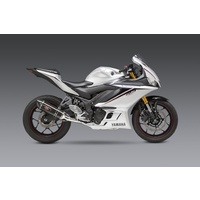 Yoshimura Race Series R-77 Stainless Full Exhaust System w/Carbon Sleeve/Carbon End Cap for Yamaha YZF-R3 15-20