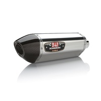 Yoshimura Race Series R-77 Stainless Full Exhaust System w/Stainless Sleeve/Carbon End Cap for Yamaha MT/FZ-09/XSR 900 14-20