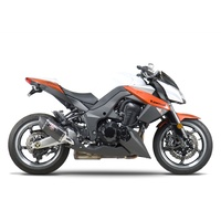 Yoshimura Race Series R-77 Stainless Slip-On Dual Mufflers w/Carbon Sleeve/Carbon End Cap for Kawasaki Z1000 10-16