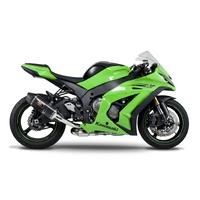 Yoshimura Race Series R-77D Stainless 3/4 Slip-On Muffler w/Carbon Sleeve/Carbon End Cap for Kawasaki Ninja ZX-10R 11-15