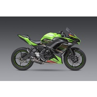 Yoshimura Race Series Alpha Stainless Full Exhaust System w/Carbon Sleeve/Carbon End Cap for Kawasaki Ninja/Z 650 17-20