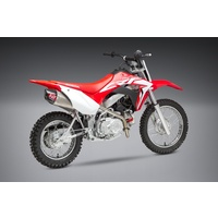 Yoshimura Enduro Series RS-9T Titanium Full Exhaust System w/Stainless Sleeve/Carbon End Cap for Honda CRF110F 19-21