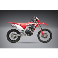 Yoshimura Enduro Series RS-4 Stainless Full Exhaust System w/Aluminum Sleeve/Carbon End Cap for Honda CRF450X 19-20