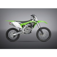 Yoshimura Signature Series RS-4 Stainless Full Exhaust System w/Aluminum Sleeve/Carbon End Cap for Kawasaki KX250F 17-20