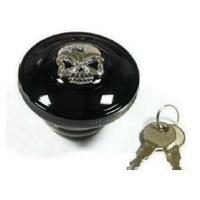 Zodiac Z012543 Gas Cap Set Locking Chrome Skull 82-95 - CC1I