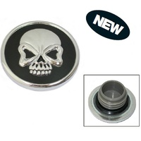 Zodiac Z012719 Gas Cap Set Skull Black/Chrome 97-Up