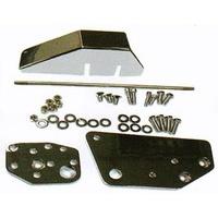 "Zodiac Z056259 Extension Kit 2"" Floorboard 86-99 Softail PTL Black - CC2E"