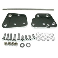 "Zodiac Z056260 Extension Kit 2"" Floorboard 00-06 Softail 00-06 FLSTF FLSTC FLSTS Chrome - CC1I"
