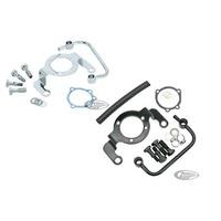 Zodiac Z120185 Air Cleaner Support Bracket/Breather Kit Chrome FLT 08-Up/Softail 16-Up