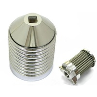 Zodiac Z120243 Re-Useable Billet Oil Filter Kit Chrome - CC1I
