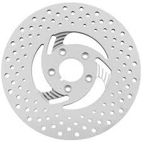 Zodiac Z144640 Front Left Hand Disc Rotor Swept Polished Stainless Steel for Harley 84-Up - CC1I