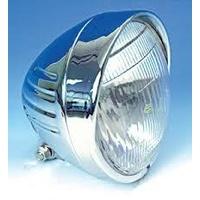 """Zodiac Z160565 Springer Grooved 5 3/4"""" Headlight w/Diamond Cut"""