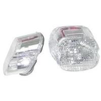 Zodiac Z160622 Laydown Tail Light Lens Clear w/Top Window 73-99 - CC1I