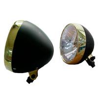 """Zodiac Z160829 Classic 5 3/4"""" Inch Headlight Black/Bronze w/H4 Insert EU Approved"""