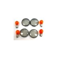 Zodiac Z161036 Indicator Lens Kit Smoked FXST/FXD 00-Up XL 02-Up Includes Amber Bulbs