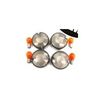 Zodiac Z161037 Indicator Lens Kit Smoked FXST 86-99 FXD/XL 86-01 Includes Amber Bulbs