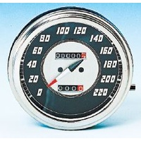 Zodiac Z169027 Speedometer Big Twin 2:1 KM/H Black Face
