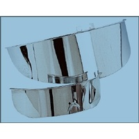 Zodiac Z302013 Headlight Visor 7 Inch Plain Chrome