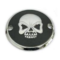 Zodiac Z302540 Ignition Cover Skull Black/Chrome Big Twin EVO 70-99 - CC2E