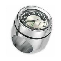 "Zodiac Z322042 Mounted Handlebar Clock Chrome for 1""-1 1/4"" Inch Bars"