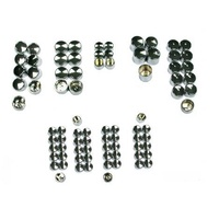Zodiac Z352012 Bolt Cover Kits Black (87 Pieces) for Softail 07-17 Models