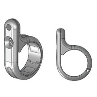 "Zodiac Z370420 Universal Clamp Chrome 1 to 1-1/4"" Inch Bars - CC2E"