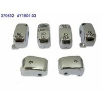 Zodiac Z370852 Switch Cap Kit Chrome Big Twin & XL 96-Later - CC1I