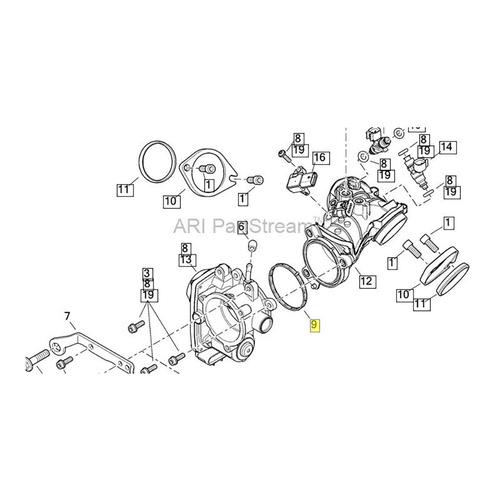 Cometic Gasket Cg C10204 Manifold To Throttle Body Seal